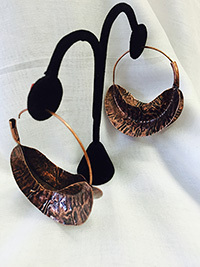 Copper Fulani-like Earrings
