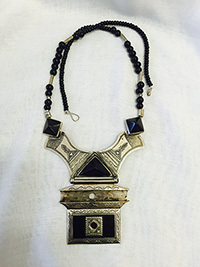 Tuareg Silver necklace with Ebony