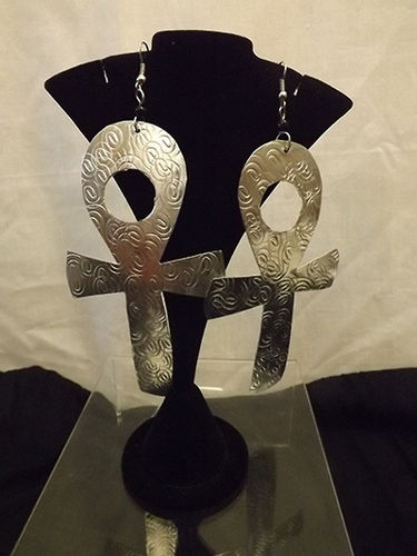 Large alum Ankh earrings