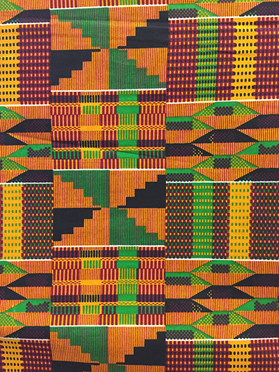African Print Fabric Kente Print Sold By The Yard