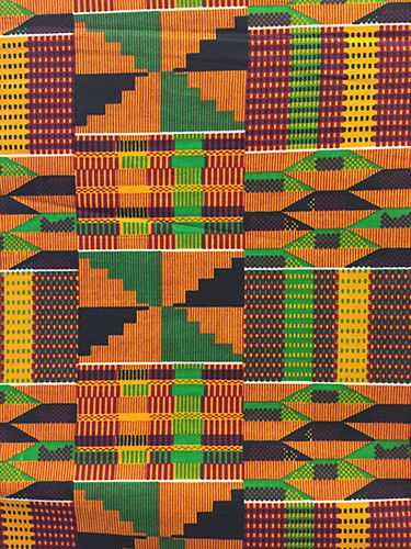African Print Fabric - Kente print (Sold by the yard)