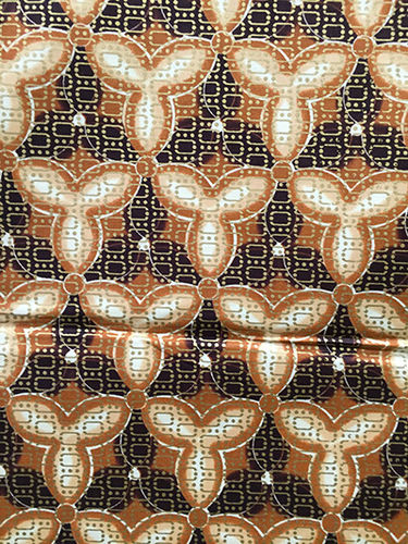 African Print Fabric - black, brown, and white (Sold by the yard)