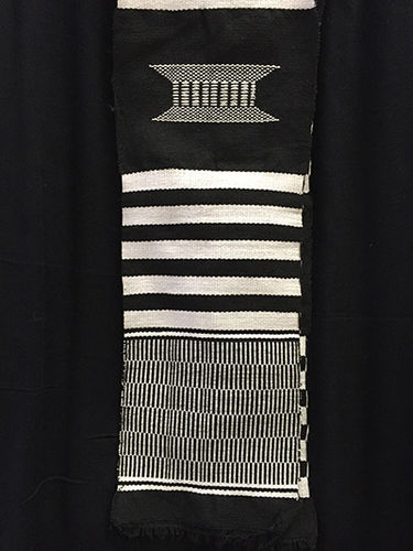 Kente strip (black and white)