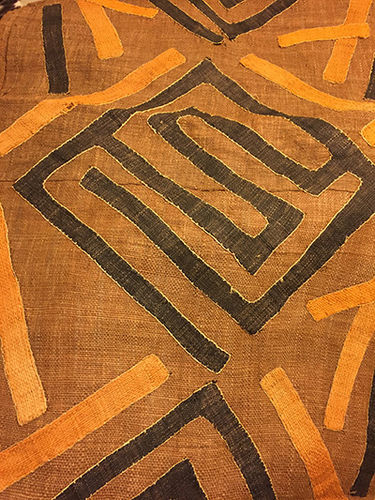 Kuba Cloth (Tan, mustard, & orange)