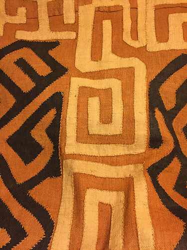 Kuba Cloth (mustard, brown & tan)