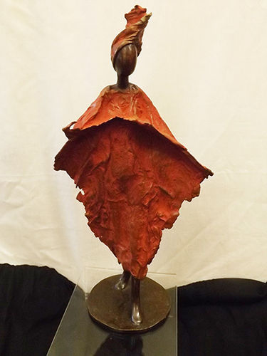 "Bronze ""hot red"" figurine"