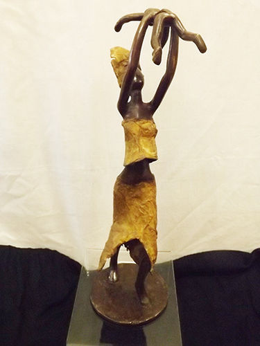 "Bronze ""the joy of motherhood"" figurine"