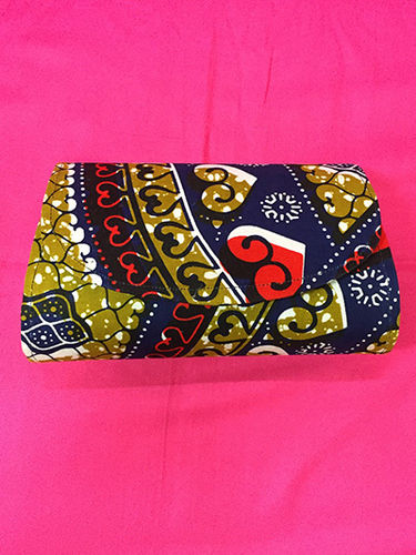 Leatherette and African Print Hand Bag