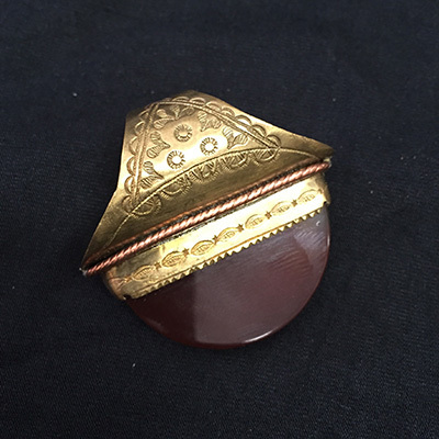 Brass & Agate Ring