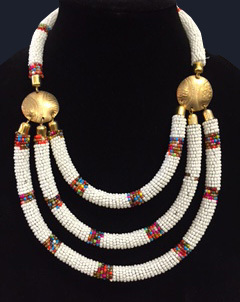 Kenyan Beaded Necklace -3