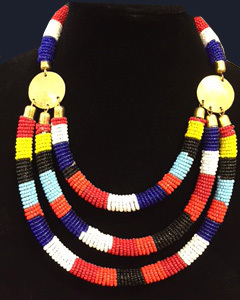Kenyan Beaded Necklace -4