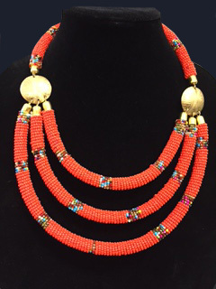 Kenyan Beaded Necklace -6