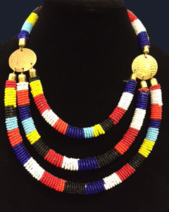 Kenyan Beaded Necklace -8