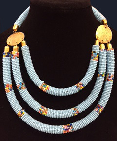 Kenyan Beaded Necklace -9